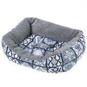 Ferplast Coccolo 60 F - Памучно легло с плюш, 66 см, синьо