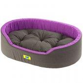 Ferplast Dandy C - легло от памучен плат, черно-лилав