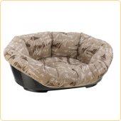 Ferplast Sofa 2 - пластмасово легло с дюшек лукс, 52 см, кафяв