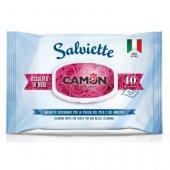 Camon Мокри кърпички с аромат на Рози, 40 броя